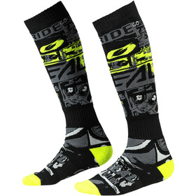 O'Neal Pro MX Chaussettes, ride-black/neon yellow